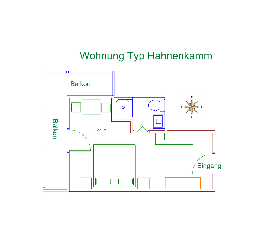 Plan Hahnenkamm Apartment